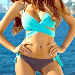 Gretchen turquoise strappey bikini